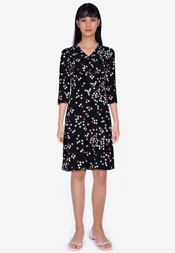 ZALORA BASICS multi Long Sleeve Mini Tea Dress FEC09AAD62A986GS_1