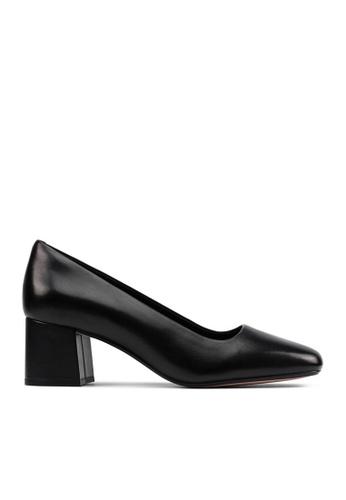 Clarks CLARKS Sheer Rose 2 Black Leather Womens Dress Shoes 1ACDFSH86C37DAGS_1