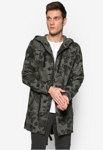 長版印花esprit 衣服大衣外套, 服飾, 服飾
