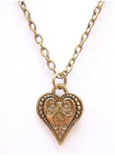 Vintage Heart Simple Charm Pendant Necklace