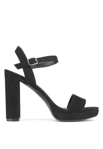 Betts black Maxie Block Heel Platform Sandals EC48BSH58D35A9GS_1