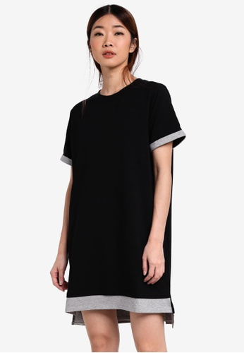 Something Borrowed black Cuffed Sleeve Tee Dress 7F3C6AA0D1D33EGS_1