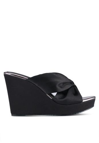 VINCCI black Slide On Wedges VI831SH0SY4OMY_1