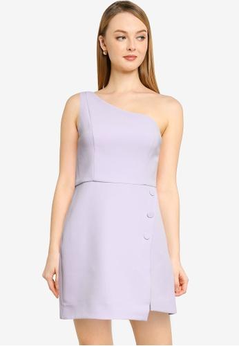 Forever New purple Dianne One Shoulder Mini Dress 15084AA52EAA87GS_1