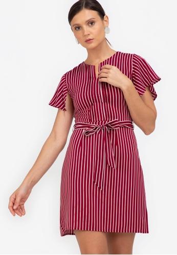 ZALORA WORK multi Handkerchief Sleeves Mini Dress 0CD78AA7E0351CGS_1