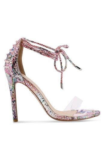 Public Desire 粉紅色 Bare 綁帶高跟鞋 13CE7SH1102722GS_1
