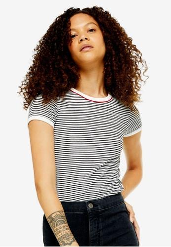 822cbf10377b Buy TOPSHOP Petite Stripe Piping T-Shirt Online | ZALORA Malaysia