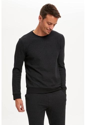 DeFacto grey Slim Fit Top & Bottom Pyjamas Set 11357AAF614405GS_1