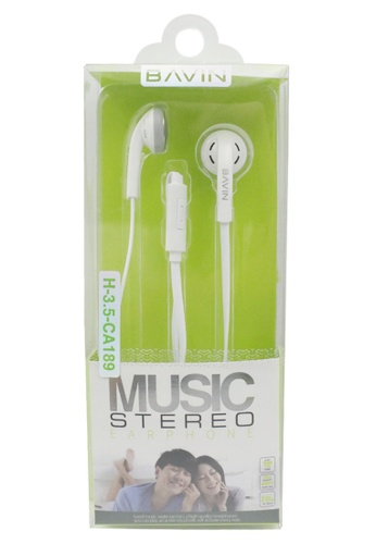 BAVIN white Bass Driven Stereo Earphone for Iphone and Android F7534AC096E74CGS_1