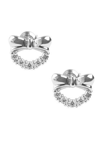 The Lovemark Silver Bow Earrings Th516ac59aloph 1