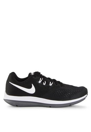 Nike black Men's Nike Air Zoom Winflo 4 Running Shoes NI126SH0V84XID_1