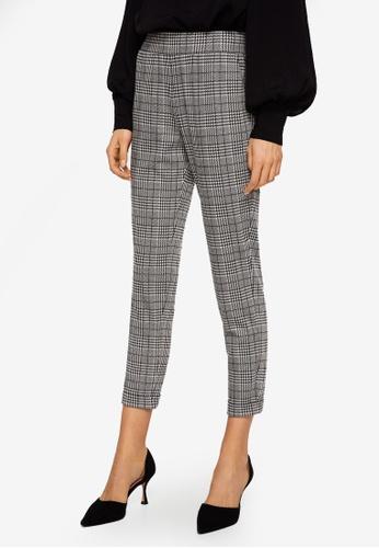 Mango grey printed trousers 571BFAA8282E70GS_1