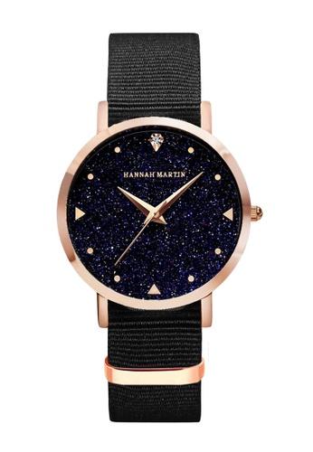 HANNAH MARTIN multi Hannah Martin Women Classic Crystalline Leather Quartz Watch 3B249AC2BCF51EGS_1