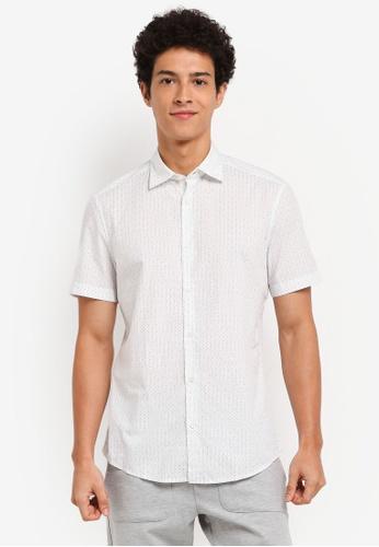 ESPRIT white Woven Short Sleeve Shirt 71C29AABCE9C8BGS_1