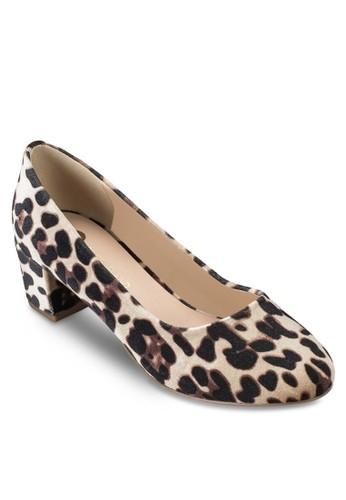 絲絨esprit outlet 台中印花粗跟娃娃鞋, 女鞋, 鞋