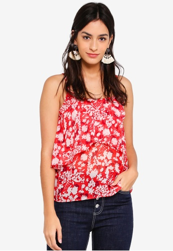 Pieces red Printed Sleeveless Top 68145AADB07D1FGS_1