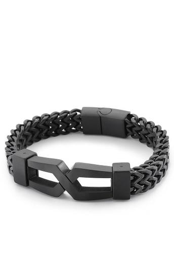 HAPPY FRIDAYS Stylish Double Layer Titanium Steel Bracelet KL149650 9A138ACD067B7BGS_1