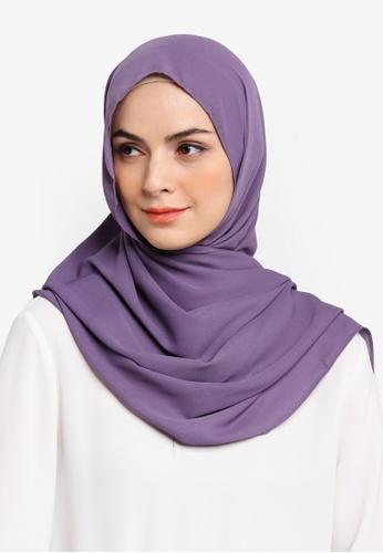 Najjah purple Suria Semi Instant Shawl CD083AAB0CAF02GS_1