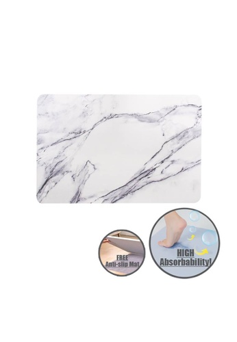 HOUZE HOUZE - Diatomite Absorbent Mat (Large) - Marble 309F0HLF47121BGS_1