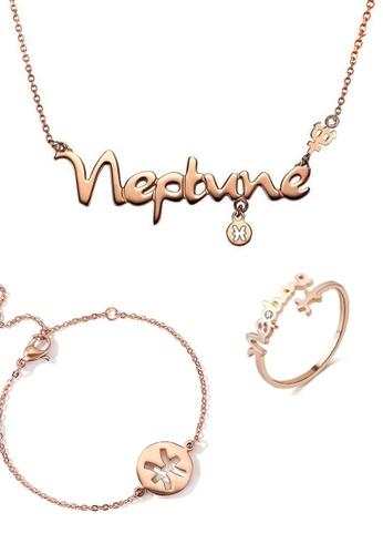 CELOVIS gold CELOVIS - Horoscope Pisces God of Protection Necklace + Bracelet + Ring Set 34E6AAC98C18E5GS_1