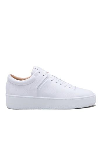 荔枝皮女款厚底休閒鞋esprit旗艦店, 女鞋, 厚底楔形鞋