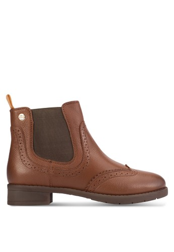 Pineville 側彈性帶沖孔雕花esprit官網短靴, 女鞋, 鞋