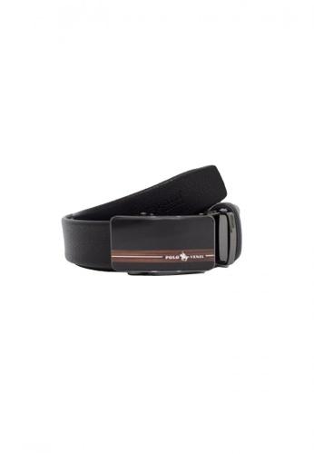 POLOVENZI black POLOVENZI Mix Leather Men Belt 1E14DAC8AFB286GS_1
