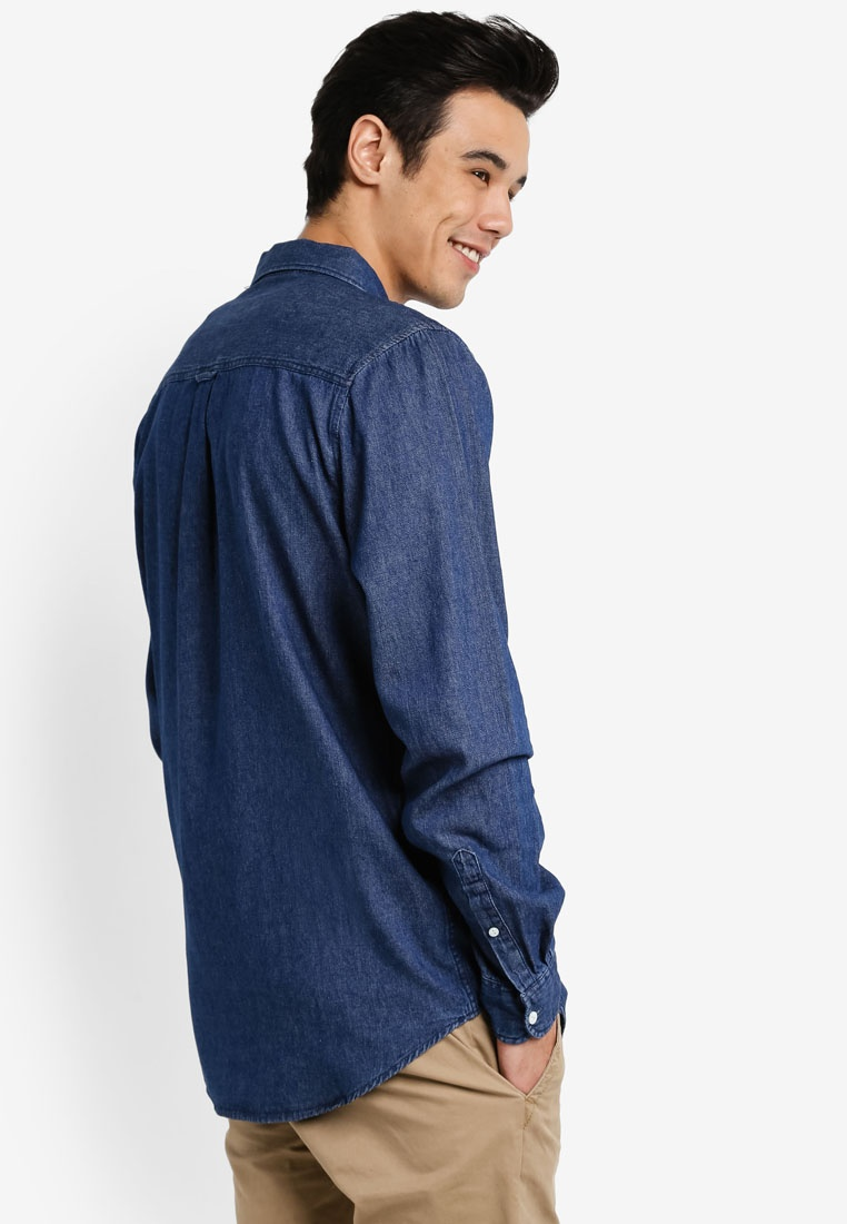 Indigo 91 Denim Cotton On Shirt pwaXtxHS
