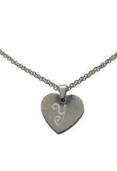 Stainless Steel Calligrafia Necklace Y