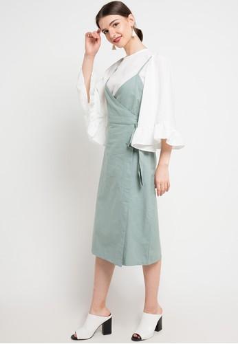 Seven Level green Naomi Dress 820EAAA27AC0ECGS_1