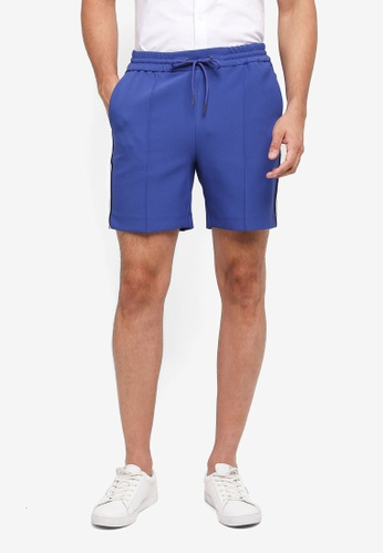 Topman blue Blue Side Stripe Smart Shorts CF950AA7FA640EGS_1