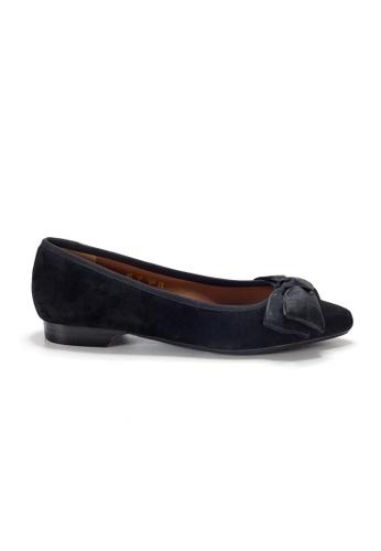 Shu Talk 黑色 LeccaLecca 麂皮蝴蝶結低跟平底鞋 38E2ASHE6A171EGS_1