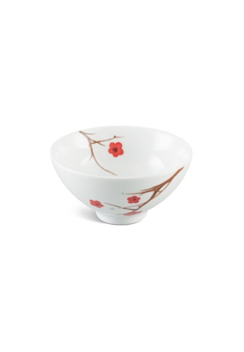 Minh Long I white Pink Ochna: Porcelain Rice Bowl (11.5cm) 5672EHL888B32FGS_1