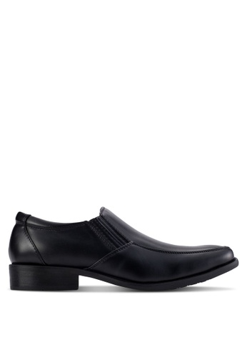Louis Cuppers black Squared Toe Business Shoes LO977SH68AZNMY_1