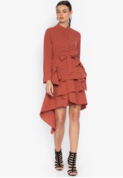 Susto The Label orange Esther Layered Dress CAF2AAA867D094GS_1