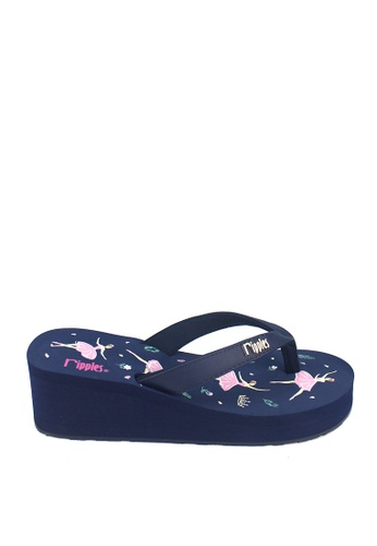 Ripples blue and multi Ballerina Wedges RI425SH0GP07SG_1