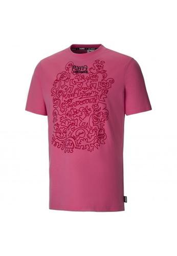 PUMA pink PUMA x MR DOODLE Men's Tee D8FE1AA8E60E98GS_1