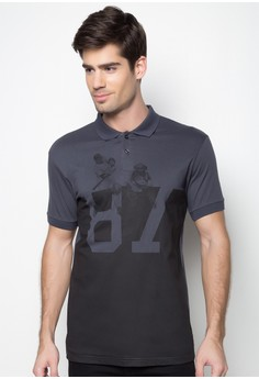 Baseball Print Polo Shirt