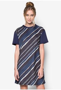 Stripe Print Tshirt Dress