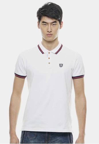 Private Stitch white Signature Polo shirts PR777AA79MSUMY_1