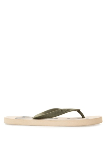 BENCH white Basic Rubber Slippers BE550SH92LUDPH_1