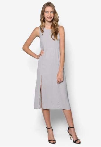 側拉鍊及膝無袖洋裝esprit taiwan, 服飾, 洋裝