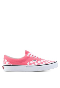 cd23a51958abd VANS white and pink Era Checkerboard Sneakers AD209SH69DFF21GS_1