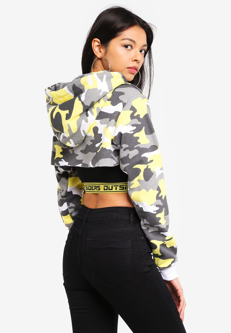 Chunky Crop Hoodie Factorie Zip Extreme Yellow Camo Snow rwU4rgpq