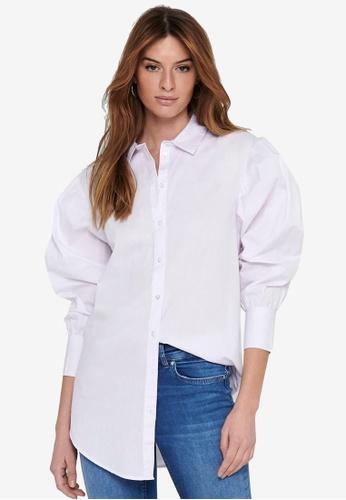 JACQUELINE DE YONG white Cameron Life Long Sleeve Oversized Shirt A82F8AAB0E9C2CGS_1