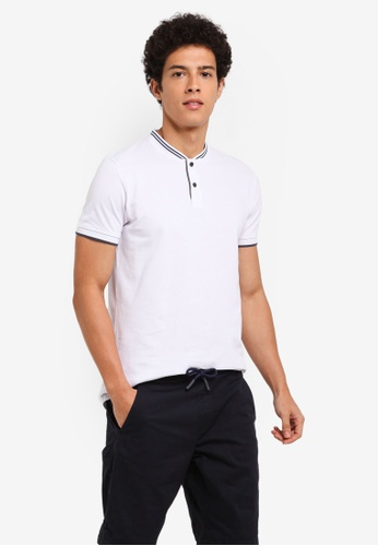 ESPRIT white Short Sleeve Polo Shirt E038AAA55D277EGS_1