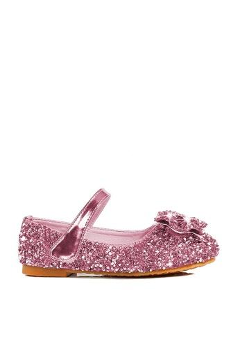 Twenty Eight Shoes 粉紅色 VANSA  亮片水鑽平底鞋  VSK-F20191 583E3KSABAAD00GS_1