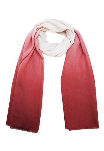 Lumi吊染漸變色披肩 - 鐵繡紅esprit outlet 台灣, 飾品配件, 披肩