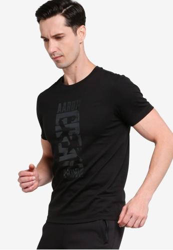 361° black Basketball Series Short Sleeve T-shirt 7535DAA98580EAGS_1