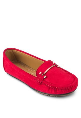 扣環飾麂皮樂福鞋, 女鞋esprit 香港 outlet, 船型鞋